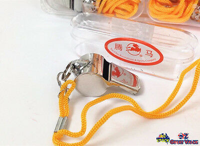 Metal String Whistle Game Referee Sport Match School Camping Emergency Use OZ