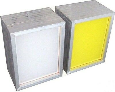 4 Pcs 20*30cm Aluminum Screen Printing Frame - 300 Mesh Yellow Fast Delivery