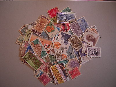 Inde  Lot 100 T-P Differents Obliteres Tb