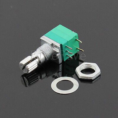 B1K - B10K OHM Audio Amplifier Sealed Potentiometer 15mm Shaft 5pins with Switch