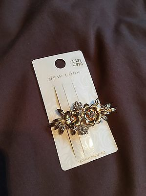 New Look Hair Accessory Gold Flower Clip