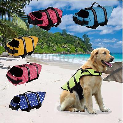 Dog Life Jacket Swimming Float Vest Reflective Adjustable Buoyancy Aid Pet XS-XL