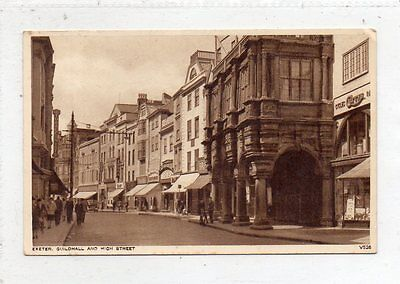 """""postcard Guildhall And High Street,exeter,devon"""""