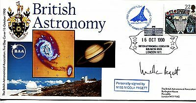 British Astronomy 1990 SIGNED CERTIFIED Nicola Pagett, Concorde flown