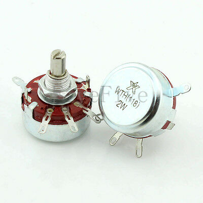 470Ω - 2.2M OHM WTH118-1A 2W Series 6mm Shaft Linear Taper Rotary Potentiometer