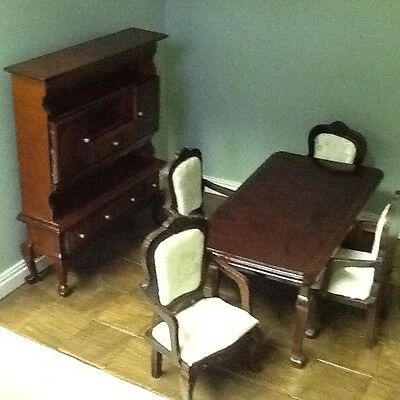 12Th Scale Mahogany10 Piece Dining/living Room Set