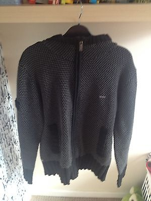 RIPCURL Slim Fit Man hoodie With Zip Black And Grey Size M