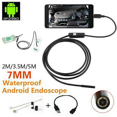 S!7MM 6 LED Android Endoscope Borescope Waterproof Inspection Video Camera!