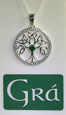 925 Silver - Tree of Life Celtic Pendant -  MADE IN IRELAND