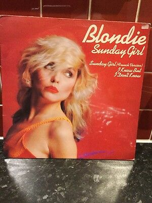 Collectable Blondie Sunday Girl 12ins Vinyl- Sunday Girl French Version