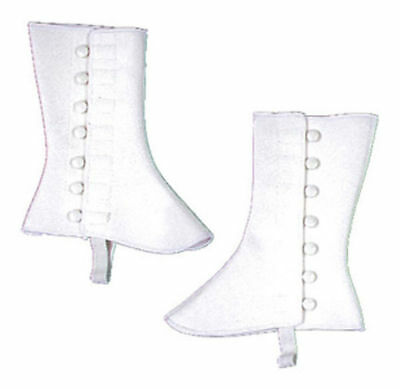 Morris Costumes 9 Inches High Vinyl Spats S/M White. BB97SM