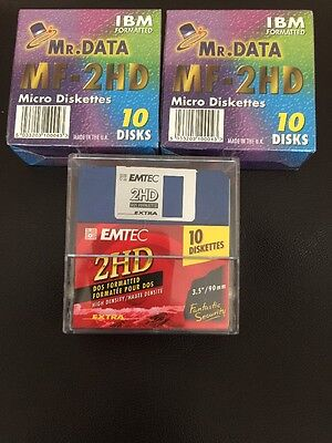 x 31 Mr Data MF-2HD Micro Diskettes  DOS/V Formatted. 3.5 Floppy 1.44MB