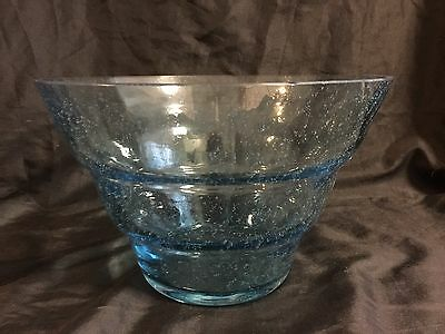 Large Blue Bowl With Signature