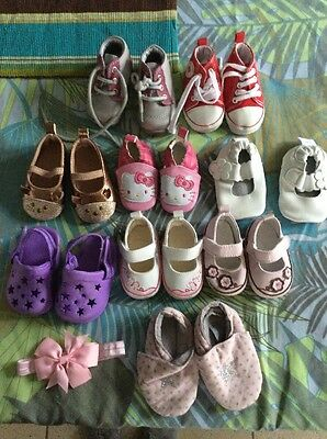 Lot Chaussures Bebe Fille 0-12 Mois