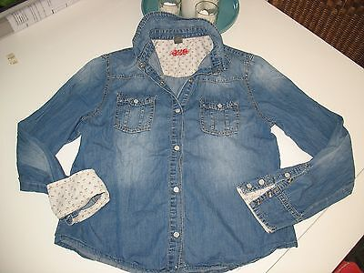 "Chemise Jeans Fille  "" Zara "" Taille 13 / 14 Ans"