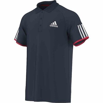 Adidas Club Polo Hommes (Collegiate Navy / Ray Red F16)