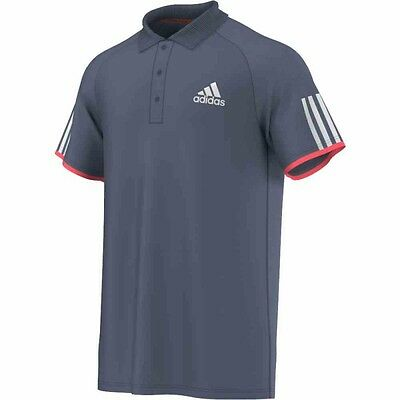 Adidas Club Polo Hommes (Tech Ink F16 / FLASH RED S15)