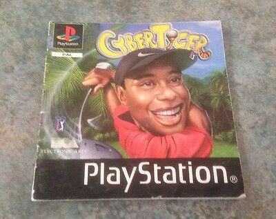Cyber Tiger Playstation 1 Instruction Booklet / Manual Ps1