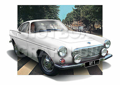 Volvo P1800 Print - Personalised Illustration Of Your Car