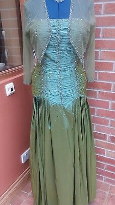 Beautiful taffeta beaded ball gown by mayqueen rrp£210 size 16