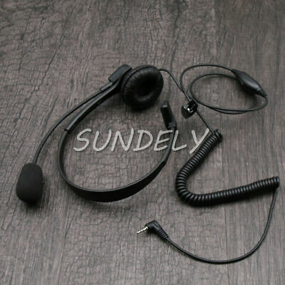 Over-Head Headset/Earpiece Mic FOR Uniden UH507SX-2NB,UH506SX-2NB,UH820SX Radio