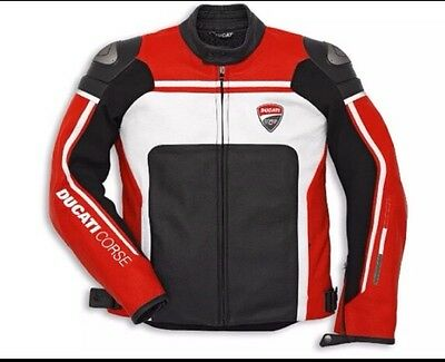 Ducati Racing  Motorbike Leather Jacket-Full Protection