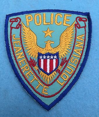 Old Jeanerette Police, Louisiana shoulder patch