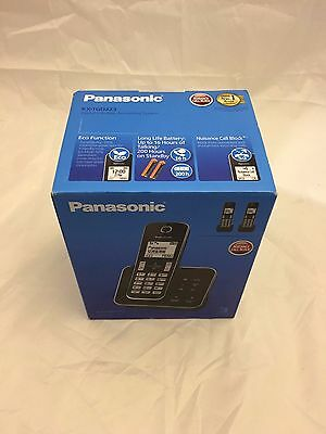 PANASONIC KX-TGD323EB Cordless Phone with Answering Machine 3 Handsets Black