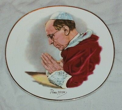 Early Crown Clarence Plate With Pope Picture In Fairly Good Condition