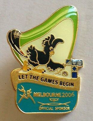 Let The Games Begin Melbourne 2006 Commonwealth Pin Badge Rare Vintage (F1)