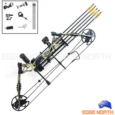 2017 New Compound Bow Pro 30-60lbs Hunting Target Arrows Archery Deluxe Kit Camo