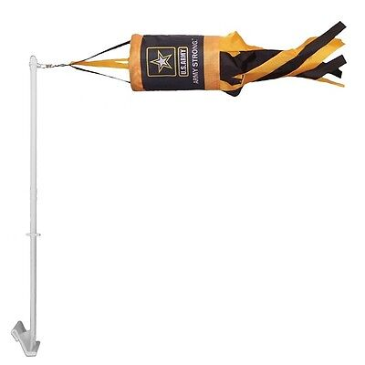 14 Inch New In the Breeze US Army Spinsock Windsock with free Car Pole