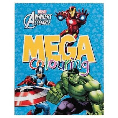 Kids Colouring Book - Marvel Avengers Mega Creative Crafts Hobby Book - Z-TECH