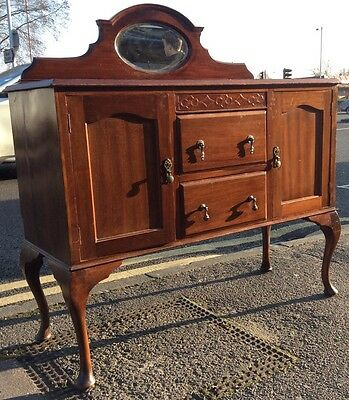 Vintage mahogany Sideboard With Mirror Wash Stand Buffet Credenza