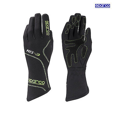 Sparco 2015 Gloves Blizzard KG-3 black/green size 7 NEW