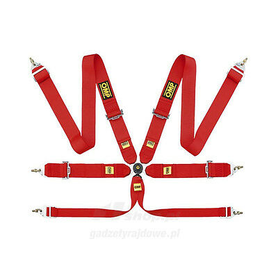 OMP 6 - point Safety Belts FIA, DA802 red