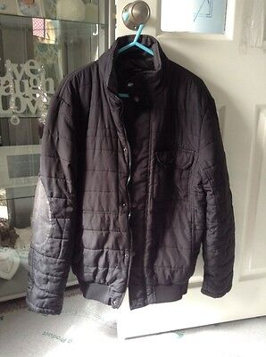 mens black quilted jacket size s