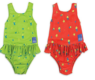 Bambino Mio Girls Swim Nappy Swimming Costume Medium 6 months+  or Large 1 year+