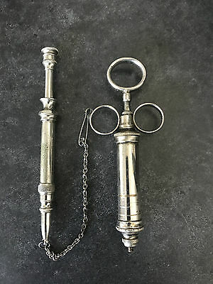 Two Antique 19th C Hypodermic Syringes - Medical Instrument