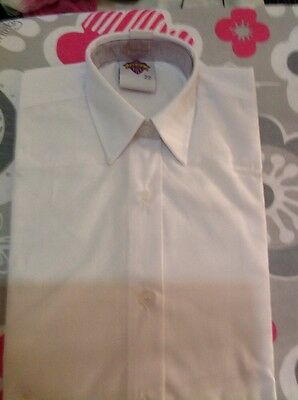 Girls S/sleeve School Shirt, White, New But Small Mark On Front, 22 Chest