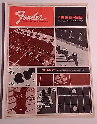 Fender Catalog 1965-66 Original 12 Pages Vintage Free Shipping
