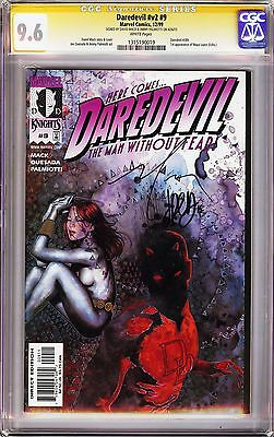 Daredevil V2 #9 CGC 9.6 SSx2 Signed David Mack & Jimmy Palmiotti! 1st app Echo!