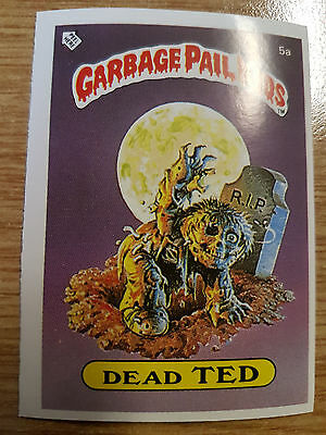 Dead Ted 5a Garbage Pail Kids Series 1 UK Mini Rare