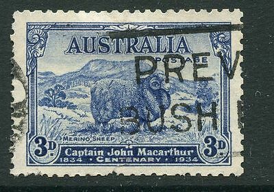 Australia: 1934 Macarthur Death Cent 3d stamp SG151 Used GG195