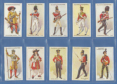 Military - Set Of 50 Player's ' Regimental  Uniforms  2Nd ' Cards  Reprints
