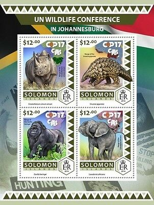 Z08 IMPERFORATED SLM16519a SOLOMON ISLANDS 2016 UN wildlife conference MNH ** Po