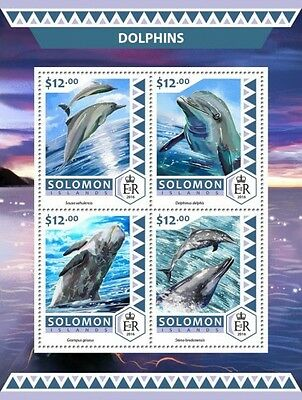 Z08 IMPERFORATED SLM16523a SOLOMON ISLANDS 2016 Dolphins MNH ** Postfrisch