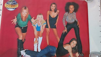 """SPICE GIRLS """"SPICE WORLD"""", poster, official merch, 1998, nm"""