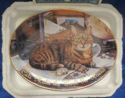 Bradford Exchange Kitty Corners Collection Gulliver the Cat 2002 Collector's Pla