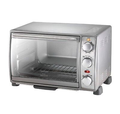 Electric Kitchen Toaster Oven Bench Top Hot Pizza Grill Bake Roast 19L Cooking